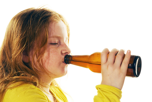 children and drinking